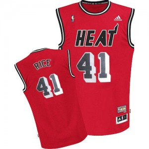 Adidas Maillots Basket Rice Heat Throwback Rouge Homme #41
