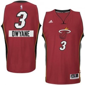 Maillot De Wade Heat Enfant #3 Adidas 2014-15 Christmas Day Rouge
