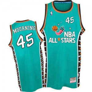 Maillot Mourning Heat Mitchell and Ness Bleu clair Homme #45 1996 All Star Throwback