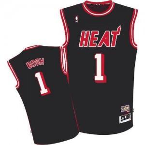 Adidas Maillot De Basket Chris Bosh Miami Heat Homme No.1 Hardwood Classic Nights Noir