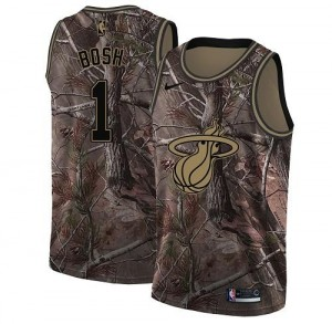 Maillot De Basket Chris Bosh Miami Heat Camouflage #1 Nike Realtree Collection Homme