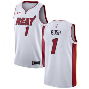 Maillots De Bosh Miami Heat Enfant Blanc Association Edition No.1 Nike