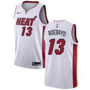 Nike Maillot De Basket Edrice Adebayo Heat #13 Enfant Association Edition Blanc