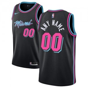 Nike NBA Maillot Personnalisable De Miami Heat Noir Homme City Edition