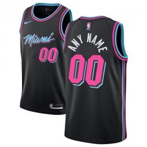 Nike Personnalisé Maillot Basket Heat Noir Enfant City Edition