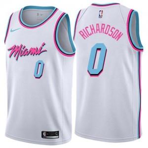 Maillots Basket Josh Richardson Heat Nike City Edition Enfant No.0 Blanc