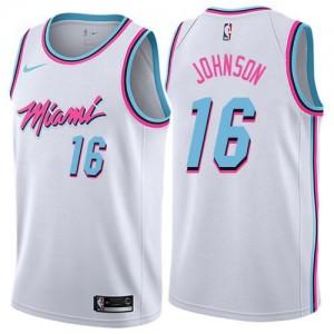 Maillots De Johnson Heat Blanc City Edition Nike Homme No.16