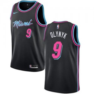 Maillots Kelly Olynyk Heat Enfant Nike Noir City Edition No.9