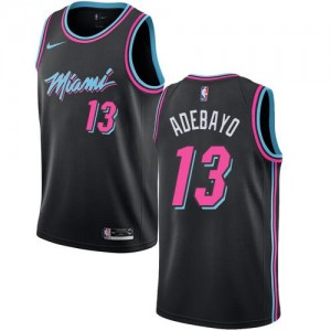 Nike Maillot Adebayo Miami Heat No.13 Noir Enfant City Edition