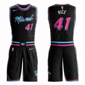 Maillot De Basket Rice Heat Nike Enfant Noir Suit City Edition #41