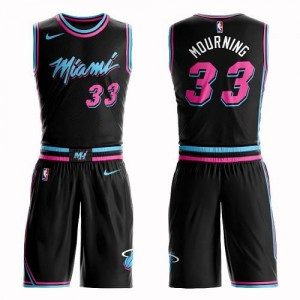 Maillot Basket Mourning Miami Heat #33 Suit City Edition Nike Homme Noir