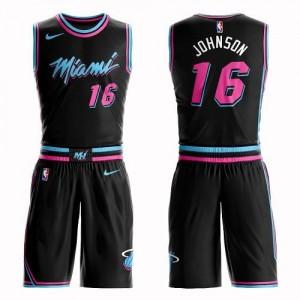 Nike Maillot De Basket James Johnson Heat Noir Suit City Edition Enfant No.16