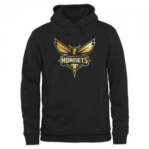 NBA Sweat à capuche De Hornets Gold Collection Pullover Noir Homme