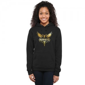 NBA Hoodie De Charlotte Hornets Femme Noir Gold Collection Ladies Pullover
