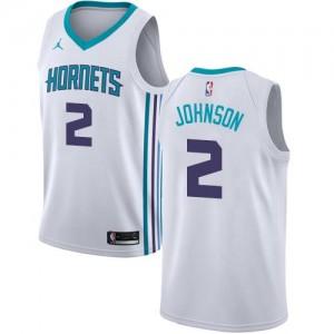 Jordan Brand Maillot De Basket Larry Johnson Charlotte Hornets Association Edition #2 Blanc Homme