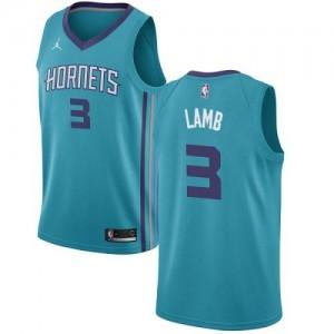 Jordan Brand NBA Maillot De Basket Jeremy Lamb Hornets #3 Homme Turquoise Icon Edition