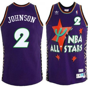 Adidas Maillot Johnson Charlotte Hornets Violet Homme 1995 All Star Throwback #2