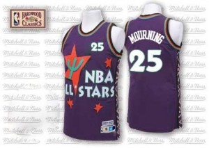 Adidas Maillots Mourning Hornets #25 Violet Homme 1995 All Star Throwback