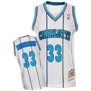 Mitchell and Ness Maillots De Mourning Hornets No.33 Blanc Homme Throwback