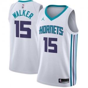 Maillot De Basket Kemba Walker Hornets Jordan Brand No.15 Association Edition Blanc Enfant