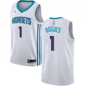 Maillot Muggsy Bogues Charlotte Hornets Blanc Jordan Brand Enfant Association Edition No.1