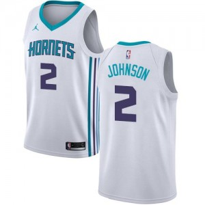 Jordan Brand Maillot De Basket Larry Johnson Charlotte Hornets Enfant Association Edition Blanc #2