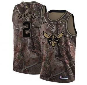 Nike NBA Maillots De Larry Johnson Hornets Camouflage Enfant No.2 Realtree Collection