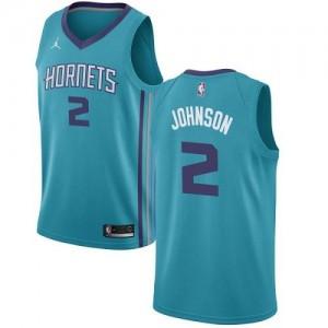 Jordan Brand NBA Maillots De Johnson Hornets Turquoise No.2 Enfant Icon Edition