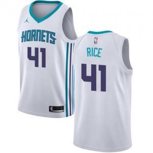 Maillot De Basket Rice Charlotte Hornets No.41 Enfant Association Edition Jordan Brand Blanc