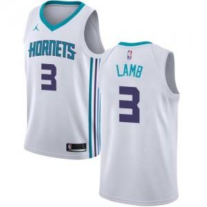 Jordan Brand NBA Maillot De Jeremy Lamb Charlotte Hornets Enfant Association Edition Blanc #3