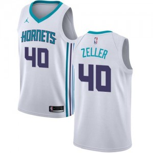 Jordan Brand NBA Maillots Basket Zeller Hornets Enfant Association Edition #40 Blanc