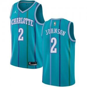 Maillot De Johnson Charlotte Hornets Vert d'Eau Hardwood Classics Enfant No.2 Jordan Brand