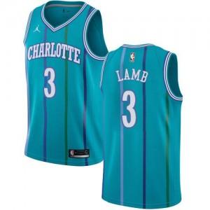 Jordan Brand Maillots De Basket Lamb Charlotte Hornets #3 Hardwood Classics Vert d'Eau Enfant
