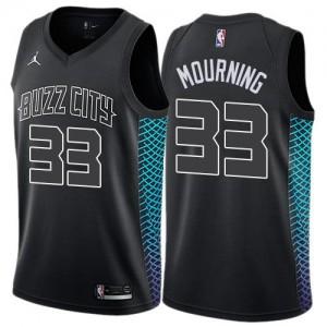Jordan Brand Maillots De Alonzo Mourning Hornets Homme Noir No.33 City Edition