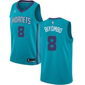 Maillots Basket Bismack Biyombo Hornets Enfant #8 Icon Edition Turquoise Jordan Brand