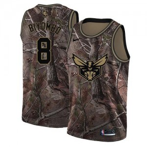 Nike NBA Maillots Basket Biyombo Hornets Realtree Collection #8 Homme Camouflage