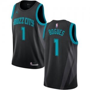 Maillot Basket Muggsy Bogues Hornets #1 Enfant Noir 2018/19 City Edition Jordan Brand