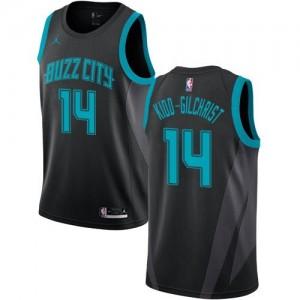 Jordan Brand NBA Maillots De Michael Kidd-Gilchrist Hornets Enfant #14 Noir 2018/19 City Edition