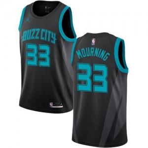 Jordan Brand Maillots De Alonzo Mourning Hornets Homme 2018/19 City Edition #33 Noir