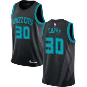 Maillots De Dell Curry Hornets Noir 2018/19 City Edition Enfant Jordan Brand No.30