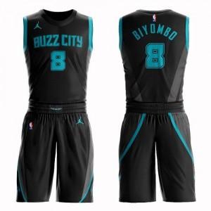 Jordan Brand NBA Maillots De Biyombo Charlotte Hornets Noir Suit City Edition #8 Enfant