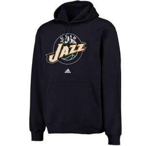 Adidas NBA Sweat à capuche Basket Utah Jazz bleu marine Homme adidas Logo Pullover Sweatshirt