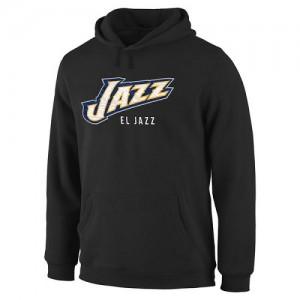 NBA Sweat à capuche De Utah Jazz Homme Noir Noches Enebea Pullover