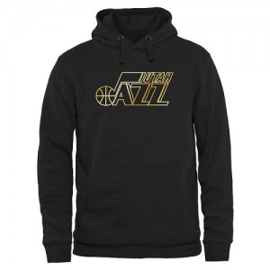 Sweat à capuche De Basket Utah Jazz Homme Noir Gold Collection Pullover
