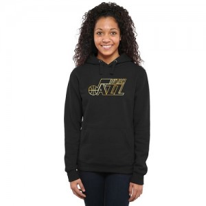Hoodie De Basket Jazz Noir Gold Collection Ladies Pullover Femme