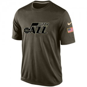 Nike NBA Tee-Shirt Basket Utah Jazz Olive Salute To Service KO Performance Dri-FIT Homme