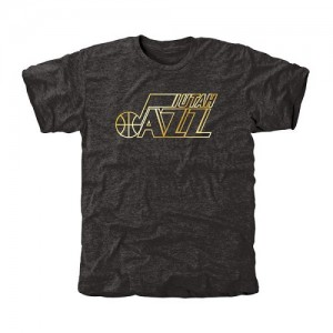 Tee-Shirt De Utah Jazz Homme Noir Gold Collection Tri-Blend