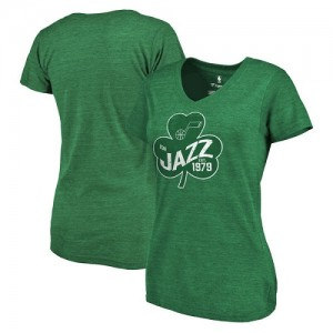 NBA Tee-Shirt De Utah Jazz vert Fanatics Branded St. Patrick's Day Paddy's Pride Tri-Blend Femme