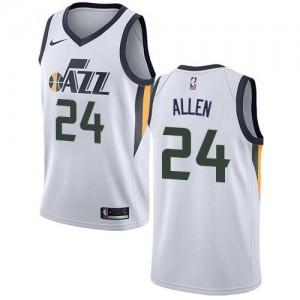Nike NBA Maillot Allen Utah Jazz Blanc #24 Homme Association Edition