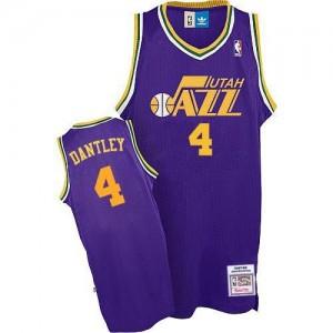 Adidas NBA Maillot Basket Dantley Utah Jazz #4 Throwback Homme Violet